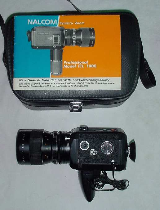 NALCOM FTL Synchro Zoom 1000 Super 8 movie camera